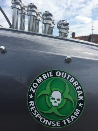 Zombie themed hearse.
