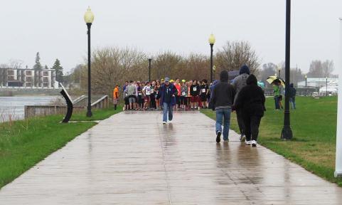 Last year's (rainy) run.