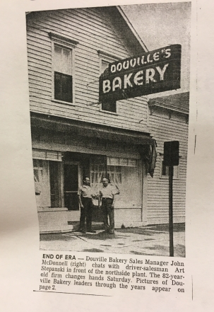 The storefront of the northside bakery. Photos from Alpena Public Library's Special Collections.