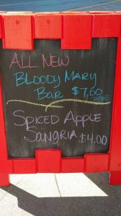 Bloody Mar bar and spiced Sangria at the Black Sheep.