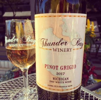 New wine at the winery. Photo by Thunder Bay Winery.