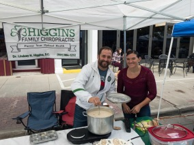 Higgins Family Chiropractic with their Irish chowder.