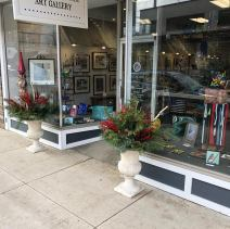 Festive front at Forty-Five North Art Gallery.