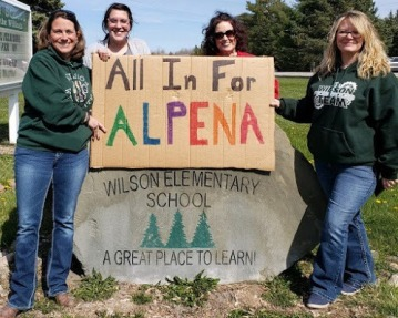 Wilson Elementary goes All in for Alpena.