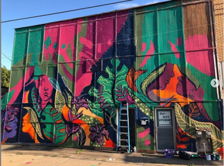 A work done by Britt Flood in Flint. Photo by Britt Flood.